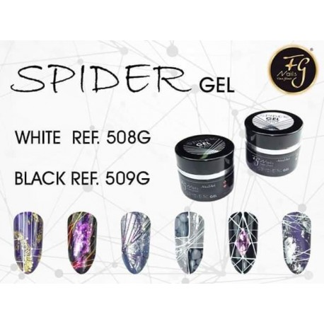 GEL SPIDER BLACK FG NAILS Gel elástico